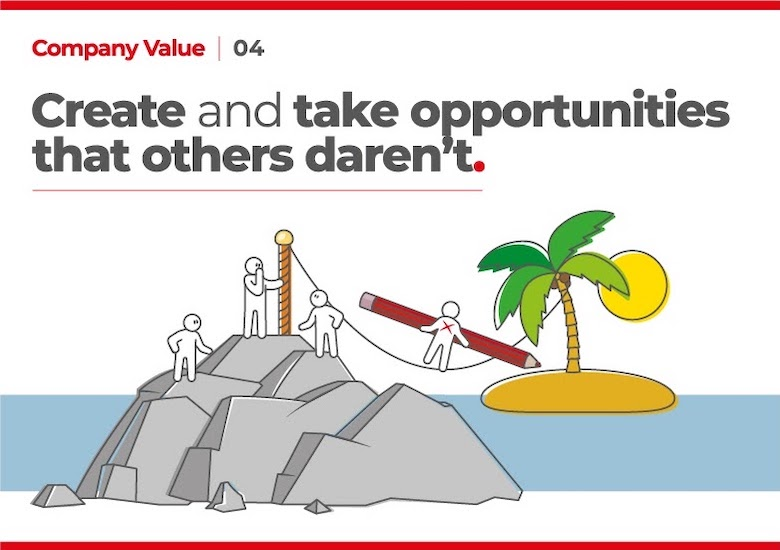 Create and take opportunities that othere daren't
